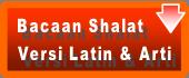 Bacaan Shalat Latin dan Artinya