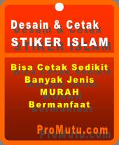 Stiker Islam tempat sticker murah