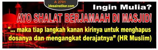 stiker islam shalat jamaah