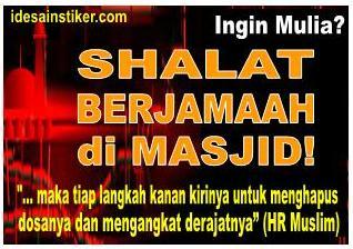 stiker islam shalat berjamaah di masjid smuid
